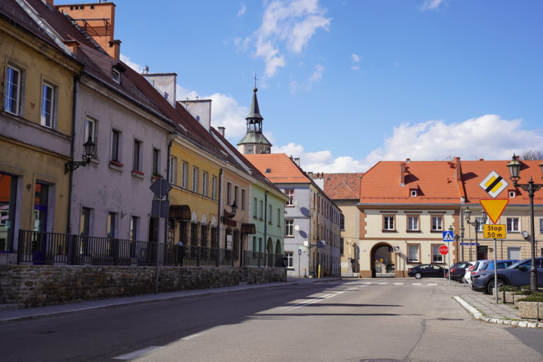 Remont chodników wokół rynku w Pyskowicach