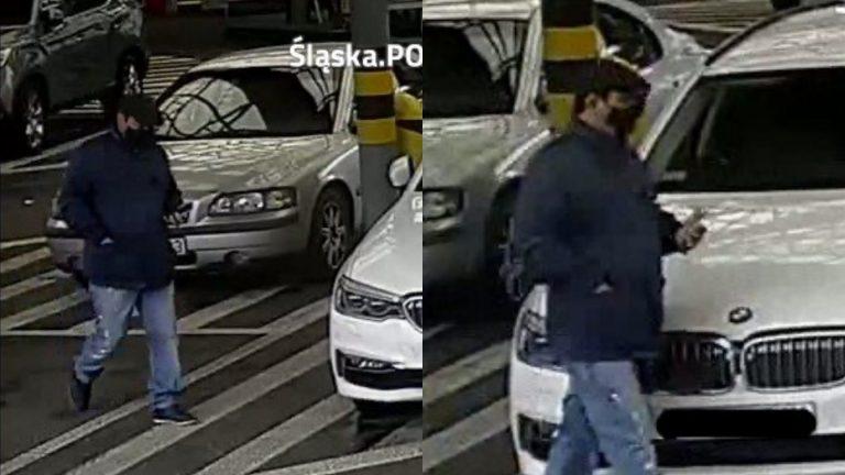 Kradzież pieniędzy z samochodu. Tego mężczyzny szuka policja