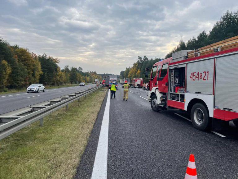 Wypadek na autostradzie A4. Zablokowane pasy w kierunku Krakowa