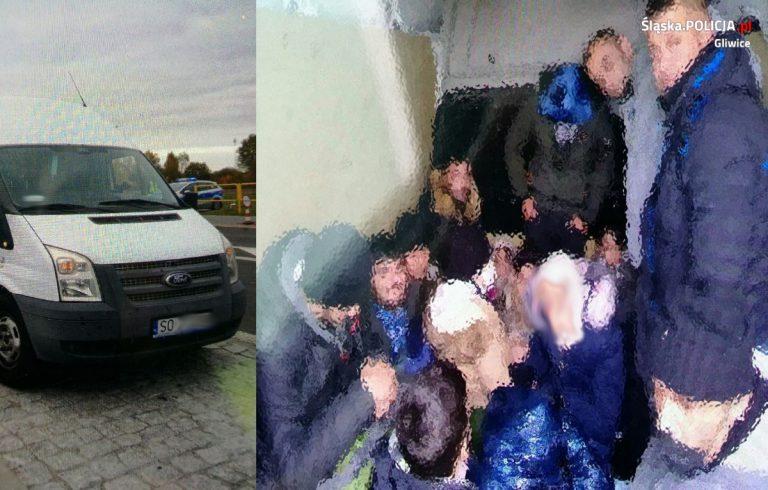 Gliwiccy policjanci strzegą granicy z Białorusią. Zatrzymali 22 imigrantów